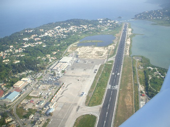 Corfu Airport prior to landing