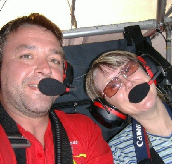 Dave and Amanda in the Skyranger