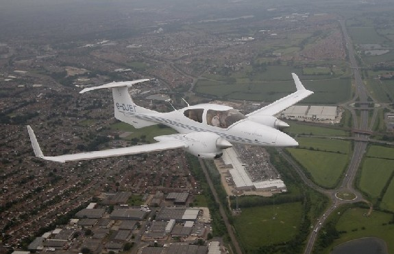 Diamond DA42 Twin Star in The Air