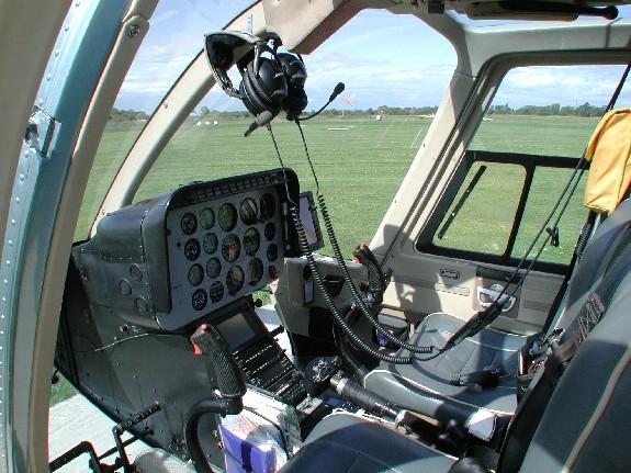 Joel's Bell Jet Ranger Interior