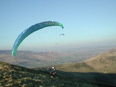 Paragliding on Mam Tor