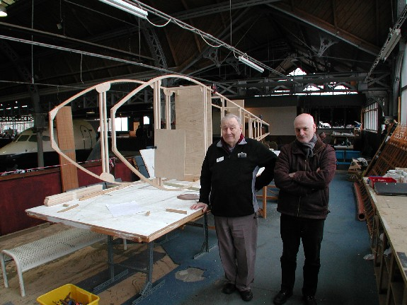 Peter Teagle and Nick Forder with Avro Type F replica
