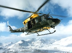 DHFS Griffin Helicopter over Snowdon