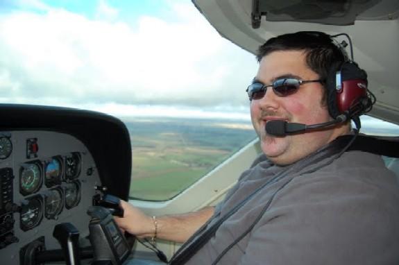 Craig flying Cessna Grand Caravan