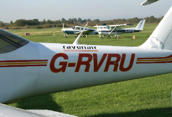 G-RVRU, one of Ravenair's PA-38 Tomahawks