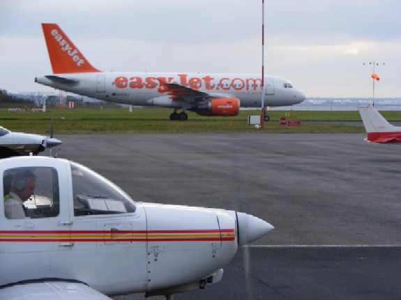 Taxiing out at Liverpool, John Lennon Airport
