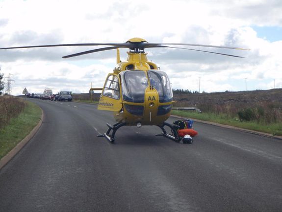 NWAA attending road traffic accident on Shap