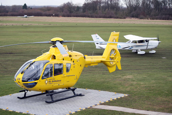 The NWAA helicopter at Barton