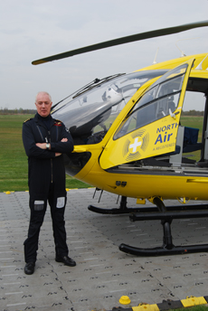 Captain Marc Rowley of North West Air Ambulance