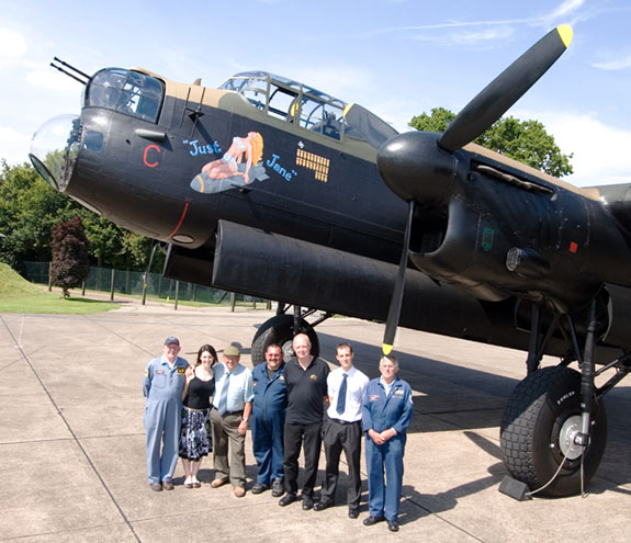 The crew at Lincolnshire Aviation heritage Centre