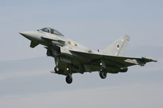 RAF Eurofighter Typhoon at Coningsby
