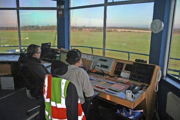 Mark and Nick in the control tower