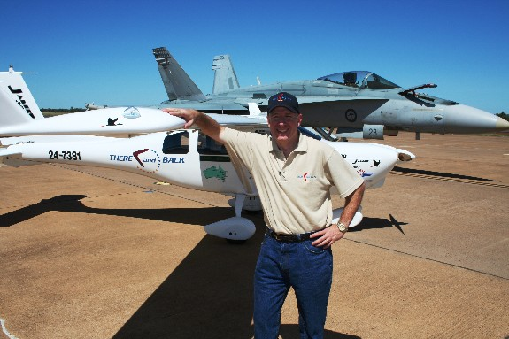 Owen with Jabiru and RAAF FA-18
