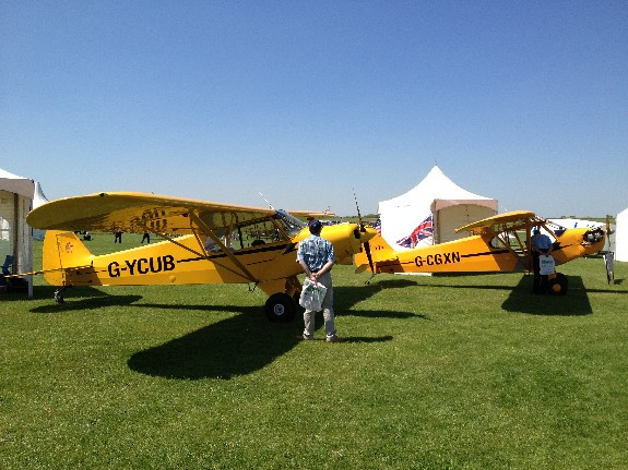 Original Piper Cub with Legend Cub behind