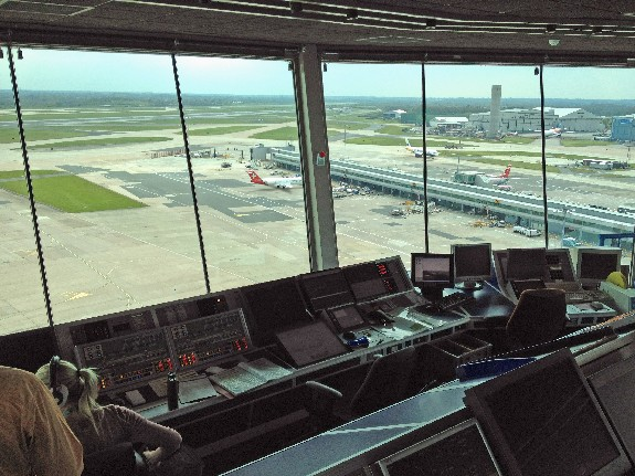 View from the control tower Manchester Int'l Airport