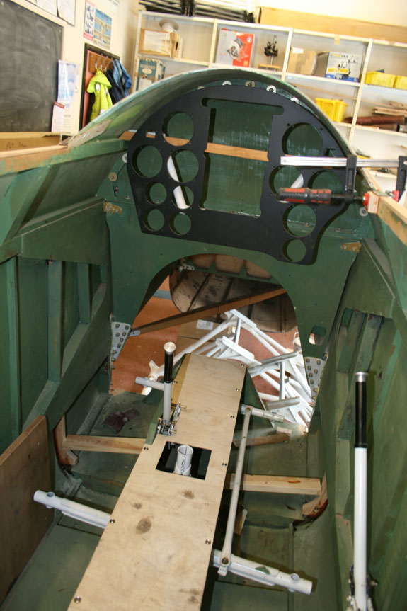 Cockpit of de Havilland Comet Racer