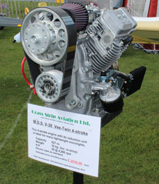 V-Twin 4 stroke engine prototype