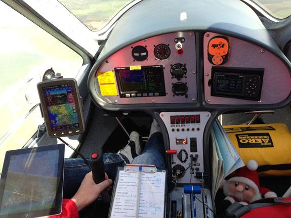 Inside Jon's aircraft